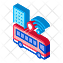Airport Bus Internet Icon