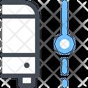 Bus Segment Path Navigation Icon