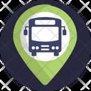 Public Transport Pin Navigation Icon