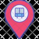 Bus Location Bus Destination Icon