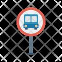 Bus Board Stop Icon