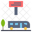 Bus Stop Bus Station Location Icon