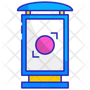 Bus stop shelter ad Icon