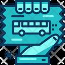 Travel Blue Bus Icon