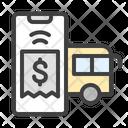 Bus Ticket Transport Icon