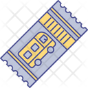 Bus Ticket Blank Pass Boarding Pass Icon