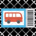 Bus Journey Ticket Icon