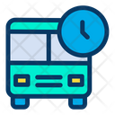 Bus Clock School Time Icon