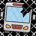 Bus Windscreen Broken Accident Bus Icon