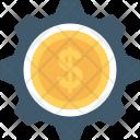 Business Cog Dollar Icon