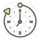 Business Overtime Clock Icon