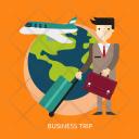 Business Trip Corporate Icon