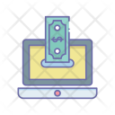 Laptop Insert Money Icon