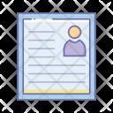 Resume Cv Icon