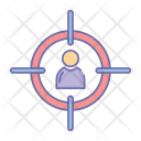 Target Employee Aim Icon