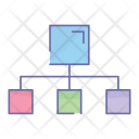 Network Hierarchy Structure Icon