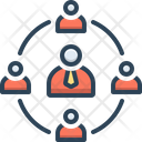 Business Network Meeting Icon