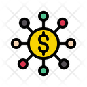 Network Dollar Connection Icon
