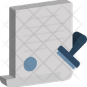 Business Clearance Declaration Icon