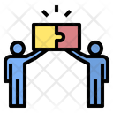 Business Collaboration Jigsaw Icon