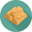 Business Bank Gold Icon