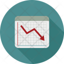 Business Graph Failure Icon