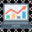 Business Graph Laptop Icon