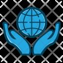 Business Globe Hand Icon