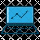 Business Laptop Analysis Icon