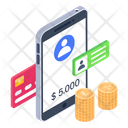 Bank Account Business Account Mobile Account Icon