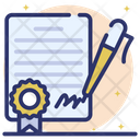 Signature Business Deal Business Contract Icon