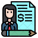 Business Woman File Icon