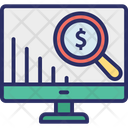 Business Analysis Finance Ratio Financial Analysis Icon