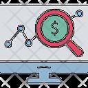 Business Analysis Finance Ratio Financial Analysis Icon