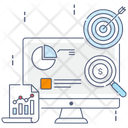 Business Analysis Finance Graph Business Goal Icon