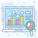 Chart Report Financial Analysis Market Research Icon