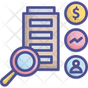 Analysis Business Research Icon