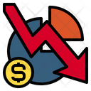 Business Down Arrow Currency Icon