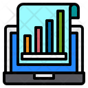 Computer Technology Growth Graph Icon