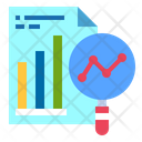 Find Report Growth Graph Icon