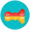 Business Analysis Area Graph Area Chart Icon