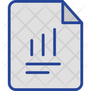 Business Analysis Document Sales Report Icon