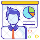 Business Analyst Corporate Manager Business Manager Icon