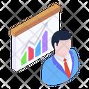 Data Analyst Business Analyst Business Presentation Icon