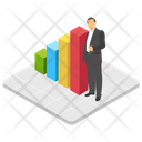 Business Analyst Trading Manager Business Professional Icon