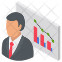 Business Presentation Business Analyst Trading Manager Icon