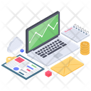Business Analytics Statistics Business Infographic Icon