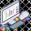 Business Analytics Online Analytics Business Infographic Icon