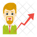 Graph Growth Employee Icon