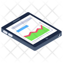 Mobile Graph Mobile Analytics Infographic Icon